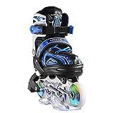Apollo Super Blades X Pro, größenverstellbar von 31 bis 42, LED Inline-Skates, Rollerblades für Kinder, ideal für Anfänger, komfortable Rollschuhe, Inliner für Mädchen und Jungen