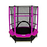 We R Sports ndash; Kinder-Trampolin mit Sicherheitsnetz, My first trampoline, Rose