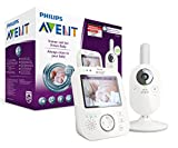 Philips Avent Video-Babyphone SCD630/26, 3,5 Zoll Farbdisplay, ECO-Mode, 10 Std. Akku, weiß/grau
