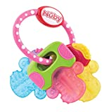Nûby 005673 Beißring mit Eisgel'Schlüssel', mehrfarbig