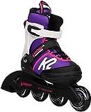 K2 Cadence Inline Skates Kinder 30E0876 I Inliner für Mädchen I Rollerblades Girls I Inliner für Kinder Mehrfarbig I Rollschuhe Mädchen I Kinder Inliner verstellbar (Größe 29-34)