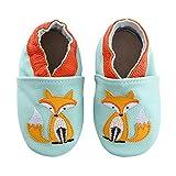 koshine Weiches Leder Krabbelschuhe Baby Schuhe Kinder Lauflernschuhe Hausschuhe 0-3 Jahre (12-18 Monate, Fuchs)