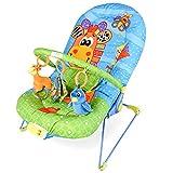 DREAMADE Babywippe mit Musik und Vibration, Babywiege Schaukelwippe Baby Schaukel verstellbar, Babyliegestuhl Baby Schlafkorb Babysitz, max.11 kg beslatbar (Blau)